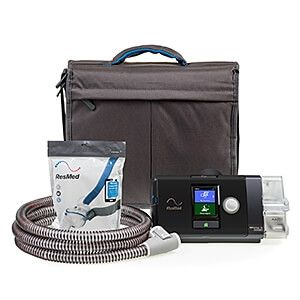 New ResMed Airsense Autoset 10 Machine with Heated Hose and P10 Nasal Pillow System Combo